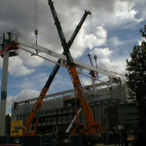 Grues de chantier, construction d'une structure